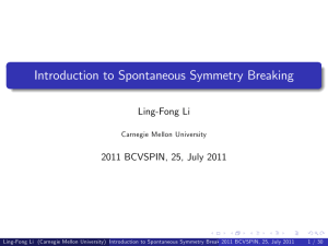 Introduction to Spontaneous Symmetry Breaking