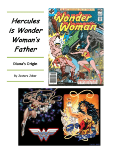 Hercules is Wonder Woman`s Father