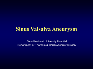 Congenital Aneurysm of the Sinus of Valsalva