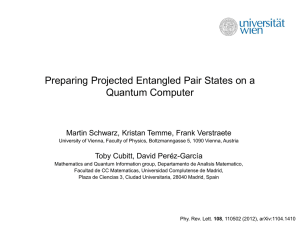 Preparing projected entangled pair states on a quantum computer