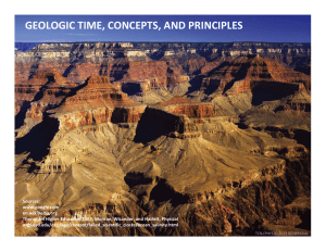 geologic time, concepts, and principles