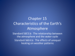 Chapter 15 Characteristics of the Earth*s Atmosphere