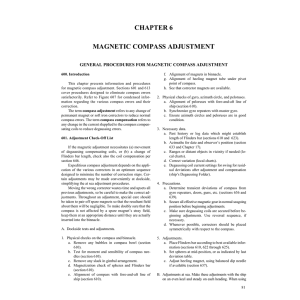 chapter 6 magnetic compass adjustment