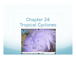 Chapter 24 Tropical Cyclones - Atmospheric and Oceanic Sciences