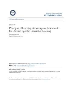 Principles of Learning: A Conceptual Framework for Domain