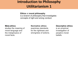 Session 15: Introduction to Utilitarianism