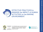 EFFECTIVE PRACTICES to MANAGE the IMPACT of HUMAN ACTIVITIES on
