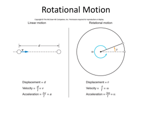Ch10: Rotational Motion