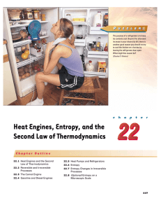 Heat Engines, Entropy, and the Second Law of Thermodynamics P
