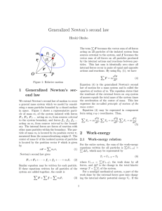 27. Generalized Newton`s second law