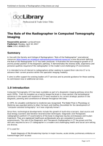 The Role of the Radiographer in Computed Tomography Imaging