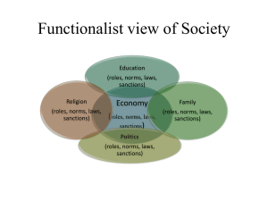 Functionalist view of Society