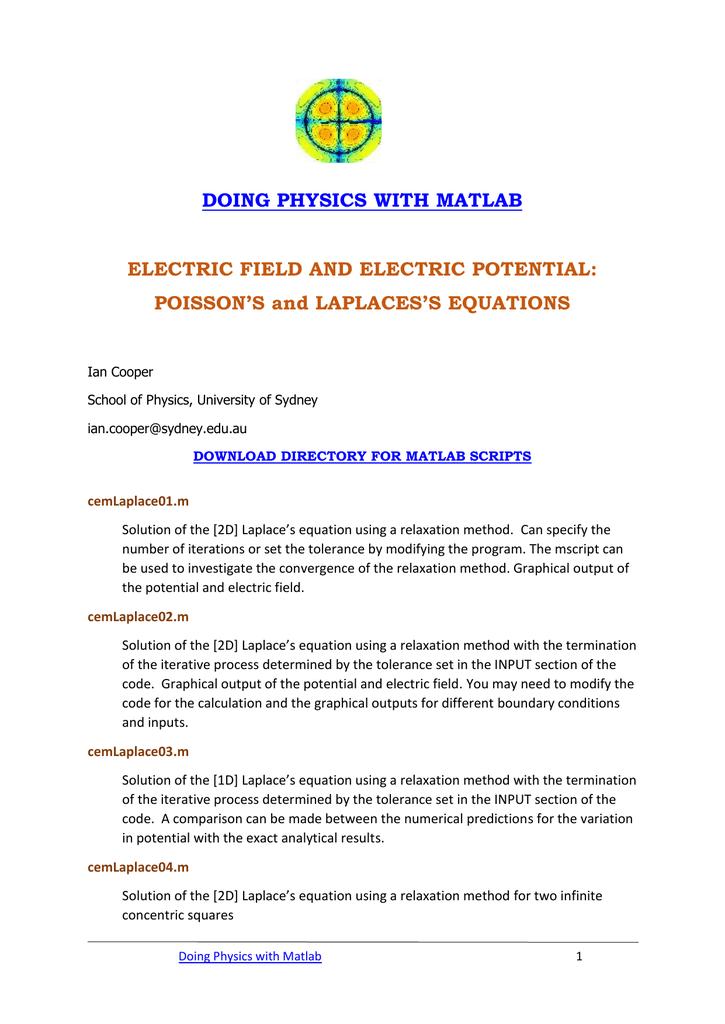 Matlab Electromagnetism