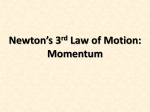 The Third Law of Motion Momentum
