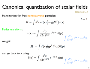 Canonical quantization of scalar fields
