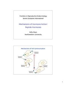 Mechanisms of Hormone Action: Peptide Hormones