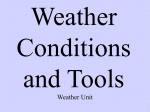 Weather: Conditions and Tools