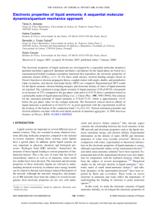 Publication: Electronic properties of liquid ammonia: A sequential