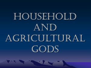 Household and agricultural gods