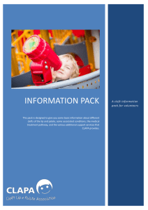Volunteer Cleft Information Pack