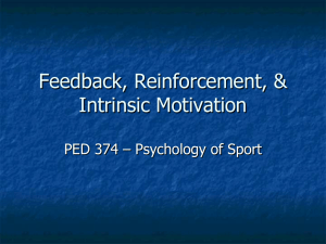 Feedback Reinforcement and Intrinsic Motivation