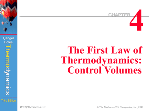 Thermodynamics Chapter 4