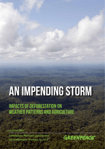 Impacts of deforestation on weather PATTERNs and agriculture