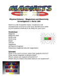 Physical Science – Magnetism and Electricity Investigation 1: Parts