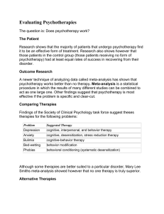 Evaluating Psychotherapies, Summary 54