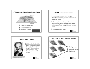 Chapter 10: Mid-latitude Cyclones Mid