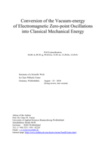 Conversion of the Vacuum-energy of Electromagnetic Zero