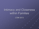 Intimacy and Closeness within Families