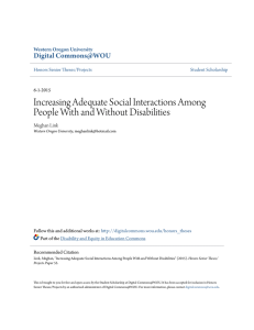 Increasing Adequate Social Interactions Among People With and