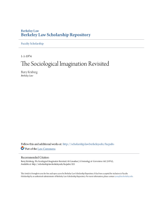 The Sociological Imagination Revisited