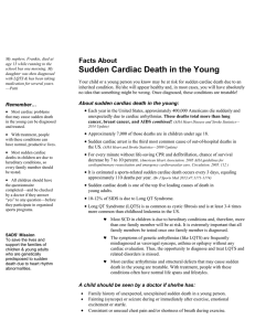 The Sudden Arrhythmia Death Syndromes (SADS) Foundation