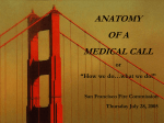 anatomy of a medical call - San Francisco Fire Department