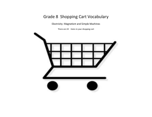 Shopping Cart Vocabulary March 2015