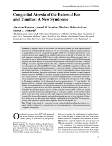Congenital Atresia of the External Ear and Tinnitus: A New Syndrome