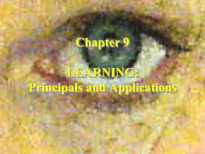Chapter 2 LEARNING: Principals and Applications