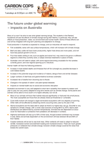 The future under global warming – impacts on Australia