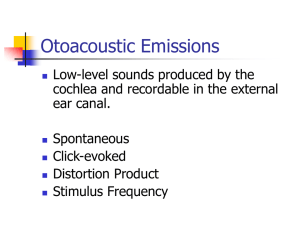 Otoacoustic Emissions