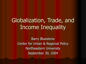 Globalization, Trade, and Income Inequality