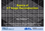 Basics of CT Image Reconstruction