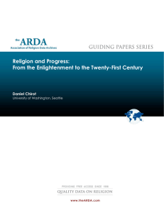 Religion and Progress: From the Enlightenment to the Twenty