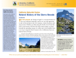 Natural History of the Sierra Nevada