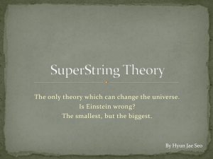 SuperString Theory