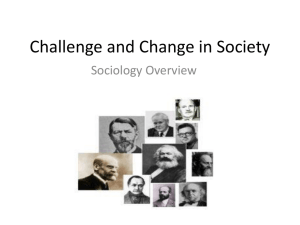 Challenge and Change in Society