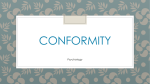 Conformity and obedience