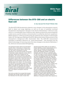 Differences between the BTD and an Electric Field Mill