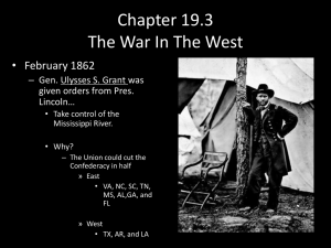 Chapter 19.3 The War In The West